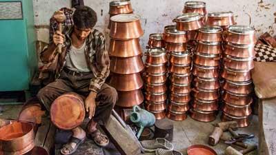تولید ظروف مسی زنجان